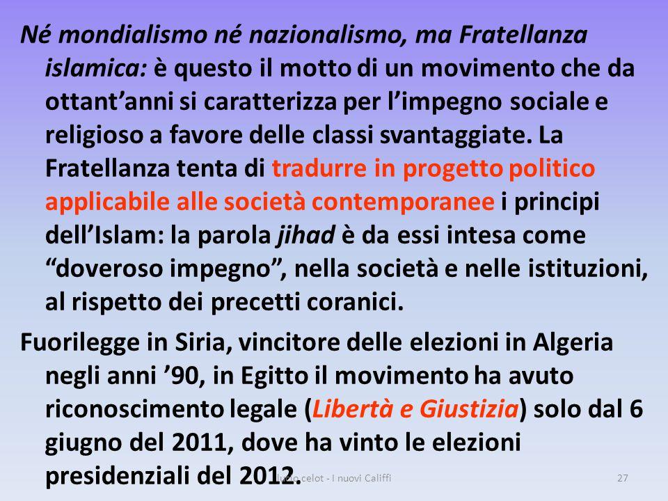 Né mondialismo né nazionalismo, ma Fratellanza islamica: è questo il motto di un movimento che da ottant'anni si caratterizza per l'impegno sociale e religioso a favore delle classi svantaggiate.