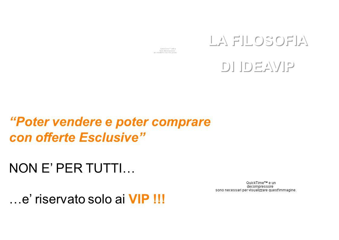 Poter vendere e poter comprare con offerte Esclusive NON E' PER TUTTI… …e' riservato solo ai VIP !!.