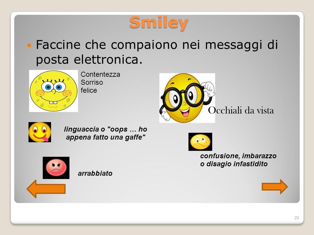 Smiley Faccine che compaiono nei messaggi di posta elettronica. Occhiali da vista Contentezza Sorriso felice linguaccia o