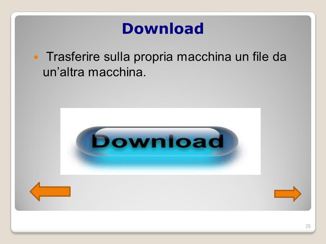 Download Trasferire sulla propria macchina un file da un'altra macchina. 29