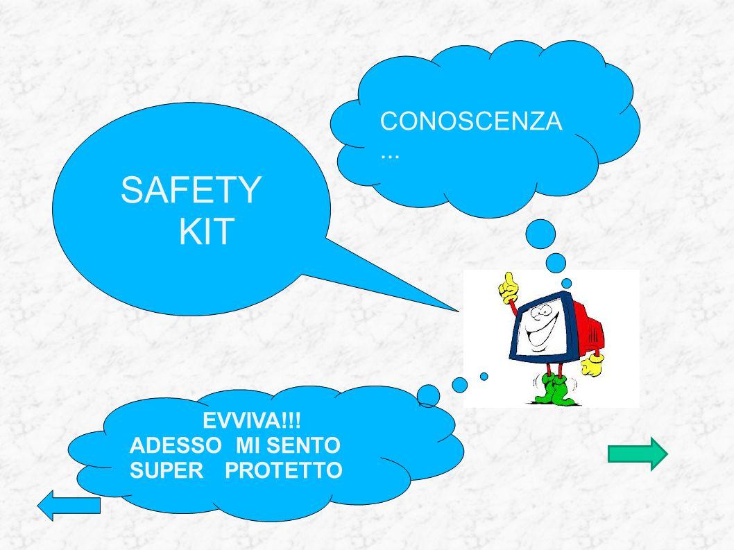 CONOSCENZA... SAFETY KIT EVVIVA!!! ADESSO MI SENTO SUPER PROTETTO 36
