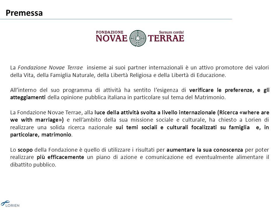 Premessa La Fondazione Novae Terrae insieme ai suoi partner internazionali è un attivo promotore dei valori della Vita, della Famiglia Naturale, della Libertà Religiosa e della Libertà di Educazione.
