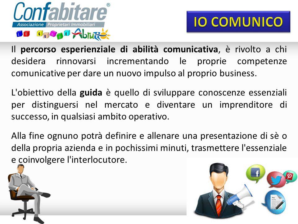 Il percorso esperienziale di abilità comunicativa, è rivolto a chi desidera rinnovarsi incrementando le proprie competenze comunicative per dare un nuovo impulso al proprio business.