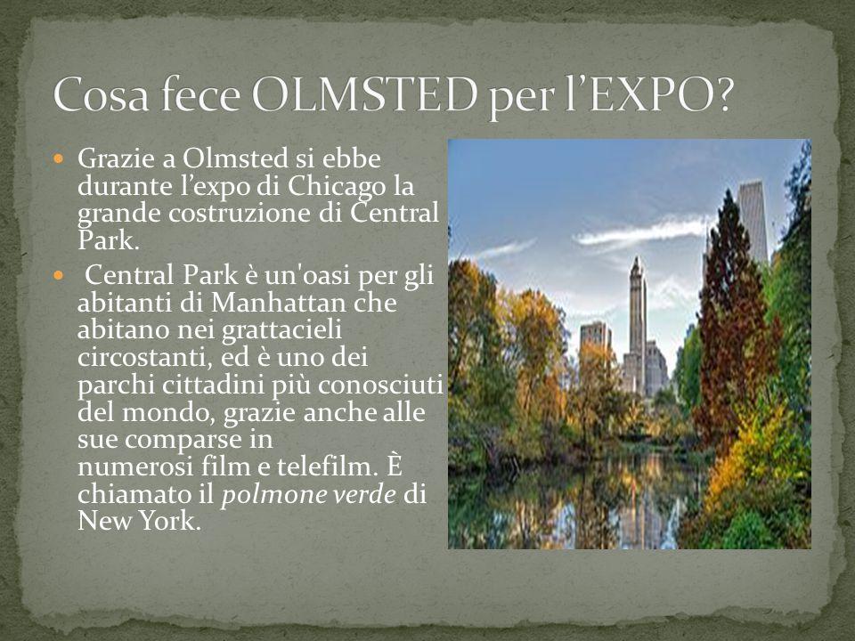 Frederick Law Olmsted è stato un architetto del paesaggio e urbanista statunitense.