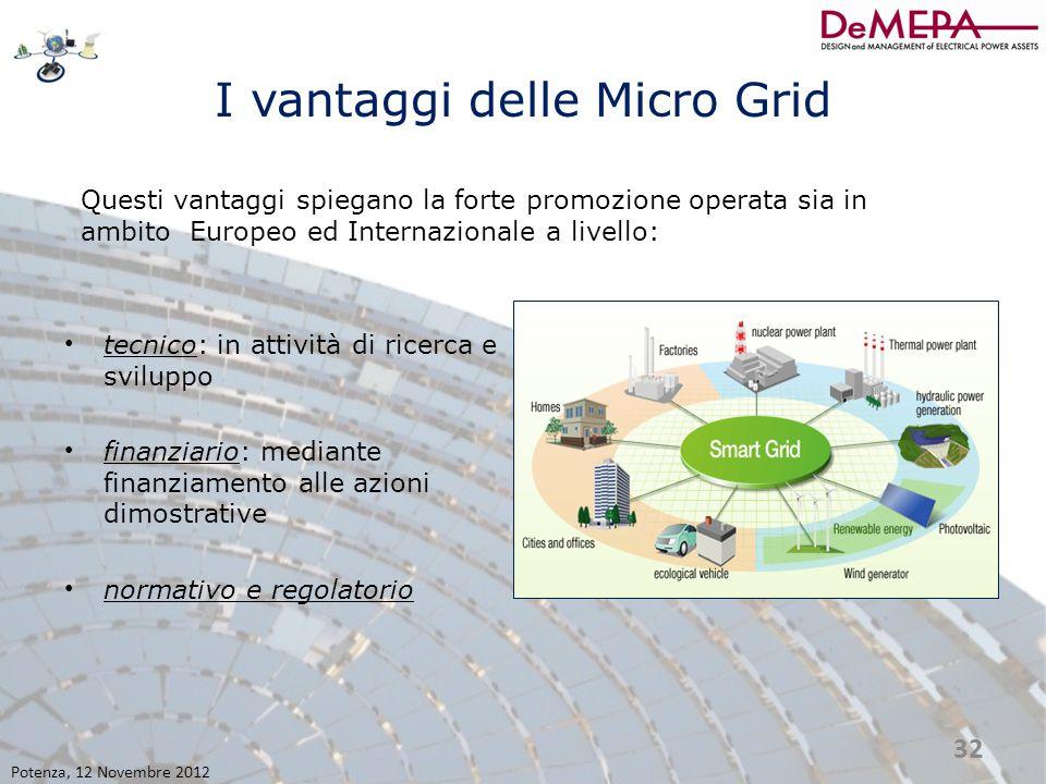 I vantaggi delle Micro Grid tecnico: in attività di ricerca e sviluppo finanziario: mediante finanziamento alle azioni dimostrative normativo e regola