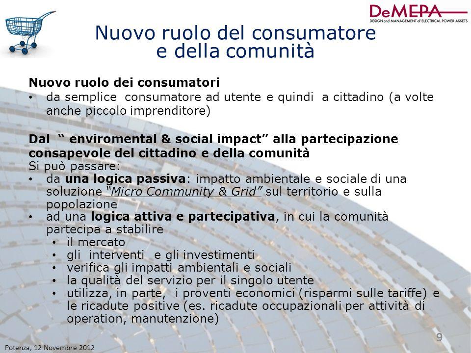 Nuovo ruolo del consumatore e della comunità Nuovo ruolo dei consumatori da semplice consumatore ad utente e quindi a cittadino (a volte anche piccolo