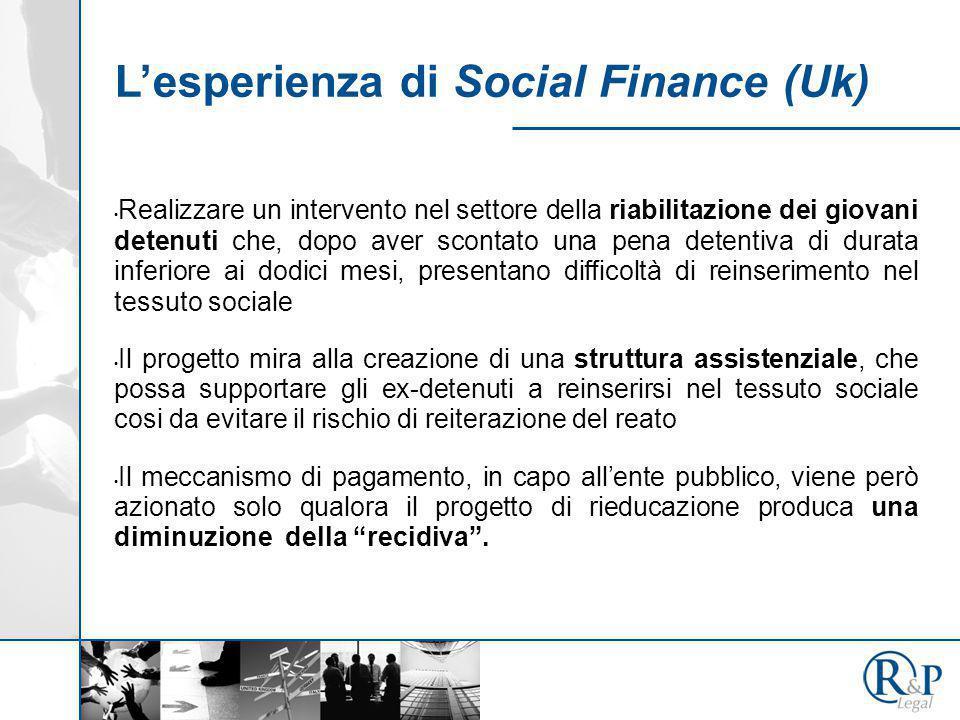 L'esperienza di Social Finance (Uk) Realizzare un intervento nel settore della riabilitazione dei giovani detenuti che, dopo aver scontato una pena de