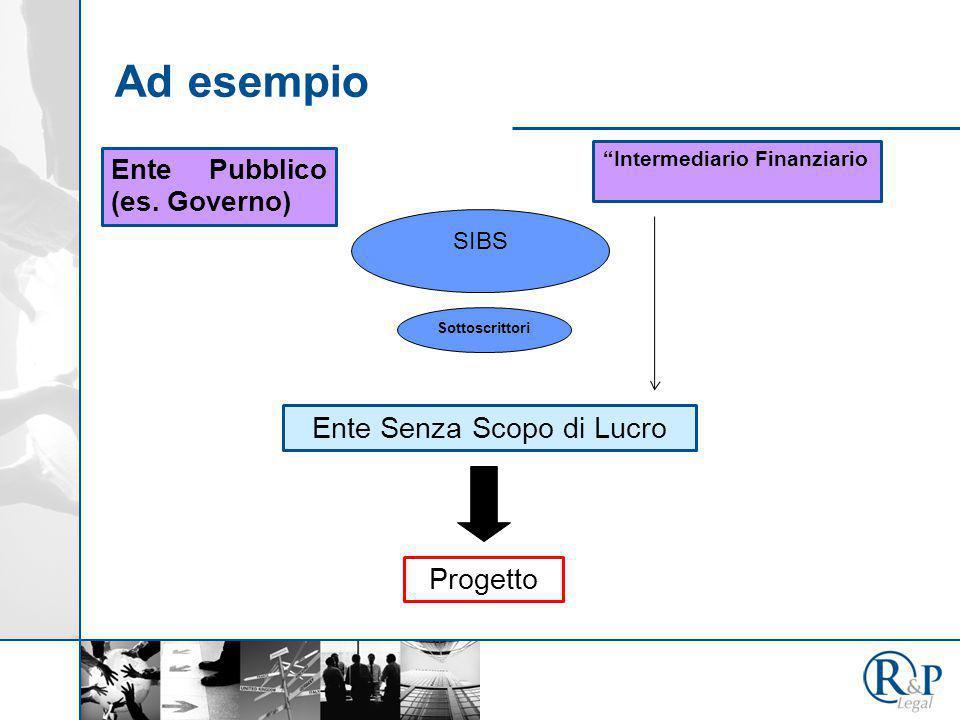 """Ad esempio Ente Senza Scopo di Lucro Ente Pubblico (es. Governo) """"Intermediario Finanziario Progetto SIBS Sottoscrittori"""