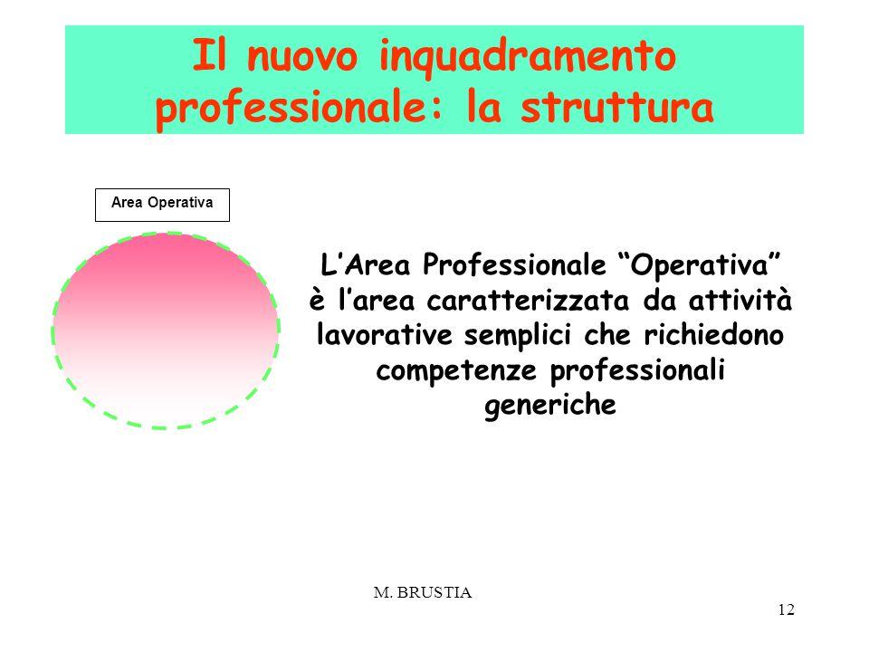 """12 Area Operativa L'Area Professionale """"Operativa"""" è l'area caratterizzata da attività lavorative semplici che richiedono competenze professionali gen"""