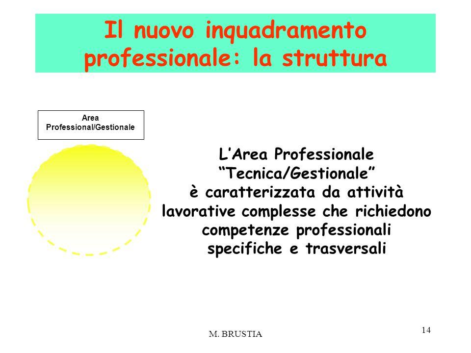 """14 L'Area Professionale """"Tecnica/Gestionale"""" è caratterizzata da attività lavorative complesse che richiedono competenze professionali specifiche e tr"""