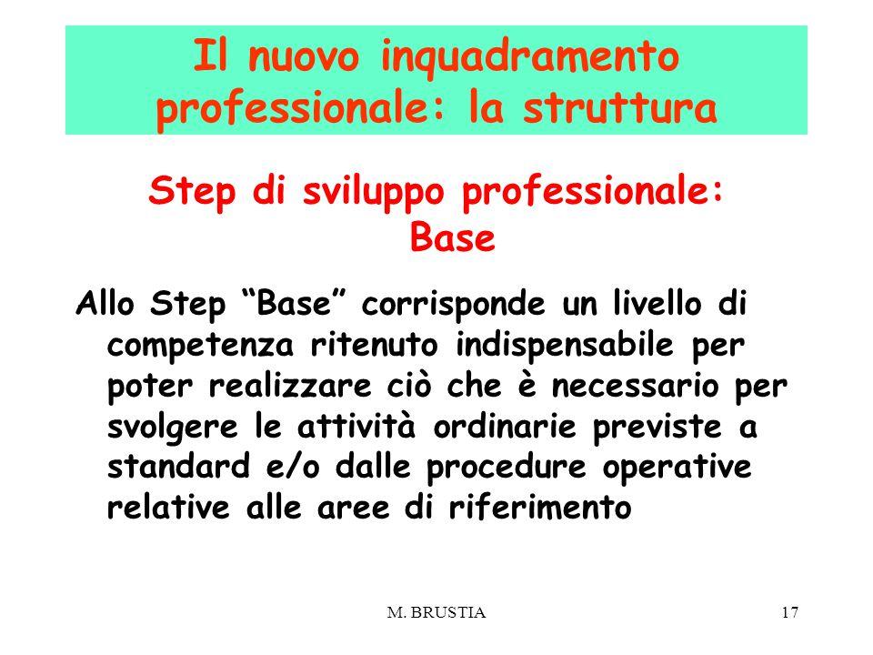 """17 Step di sviluppo professionale: Base Allo Step """"Base"""" corrisponde un livello di competenza ritenuto indispensabile per poter realizzare ciò che è n"""