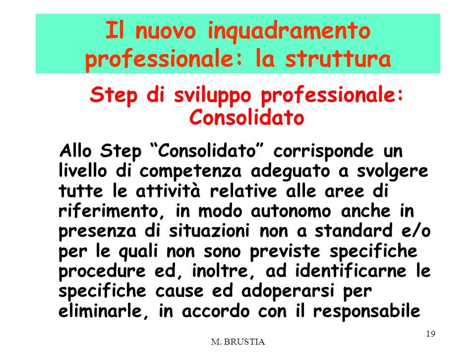 """19 Step di sviluppo professionale: Consolidato Allo Step """"Consolidato"""" corrisponde un livello di competenza adeguato a svolgere tutte le attività rela"""