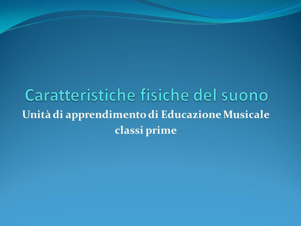 Unità di apprendimento di Educazione Musicale classi prime