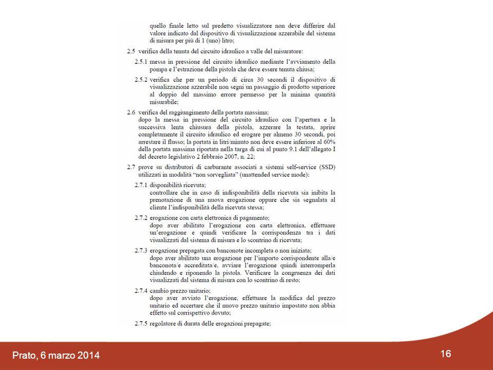 16 Prato, 6 marzo 2014