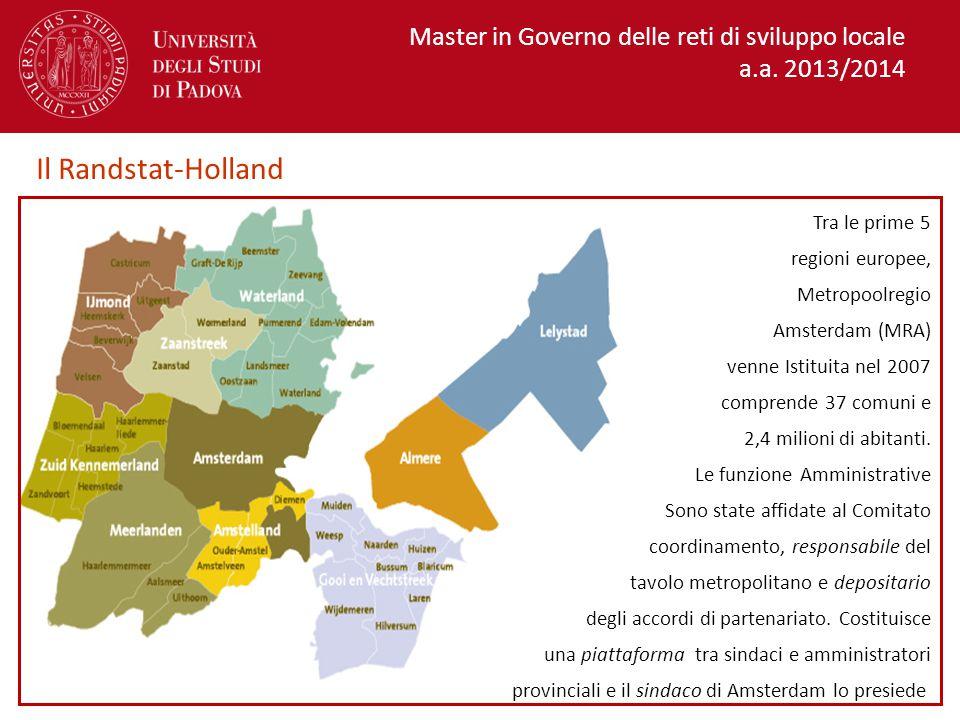 Master in Governo delle reti di sviluppo locale a.a.