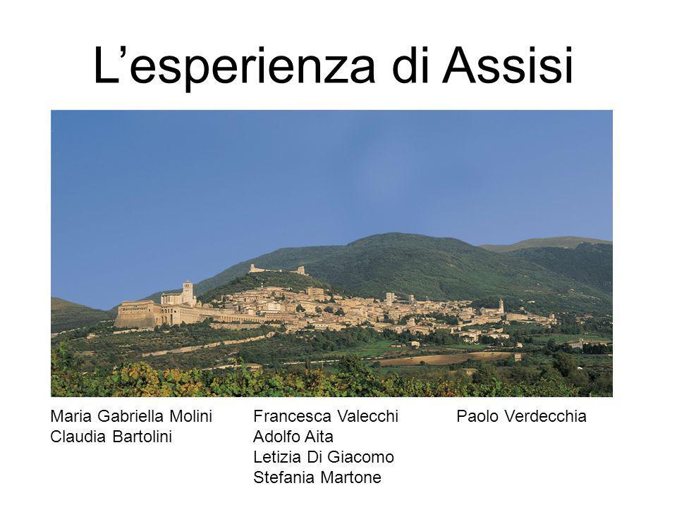 L'esperienza di Assisi Maria Gabriella MoliniFrancesca ValecchiPaolo Verdecchia Claudia BartoliniAdolfo Aita Letizia Di Giacomo Stefania Martone
