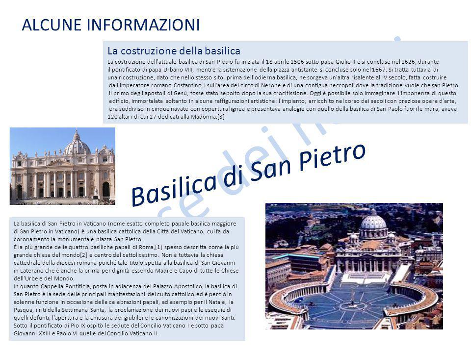 Le case dei nonni La basilica di San Pietro in Vaticano (nome esatto completo papale basilica maggiore di San Pietro in Vaticano) è una basilica cattolica della Città del Vaticano, cui fa da coronamento la monumentale piazza San Pietro.