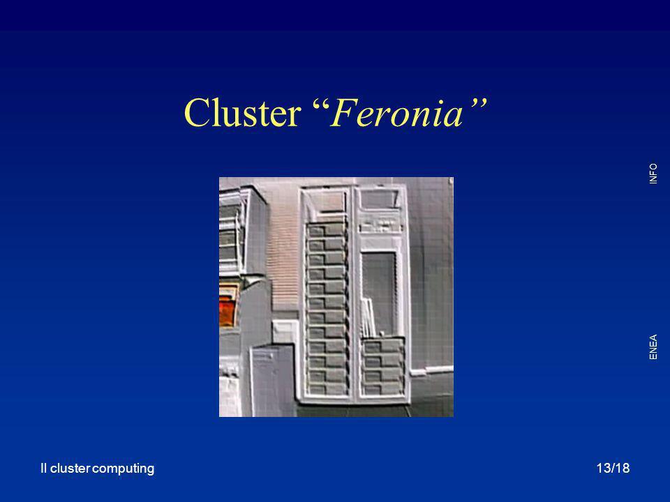 """Il cluster computing ENEA INFO 13/18 Cluster """"Feronia"""""""