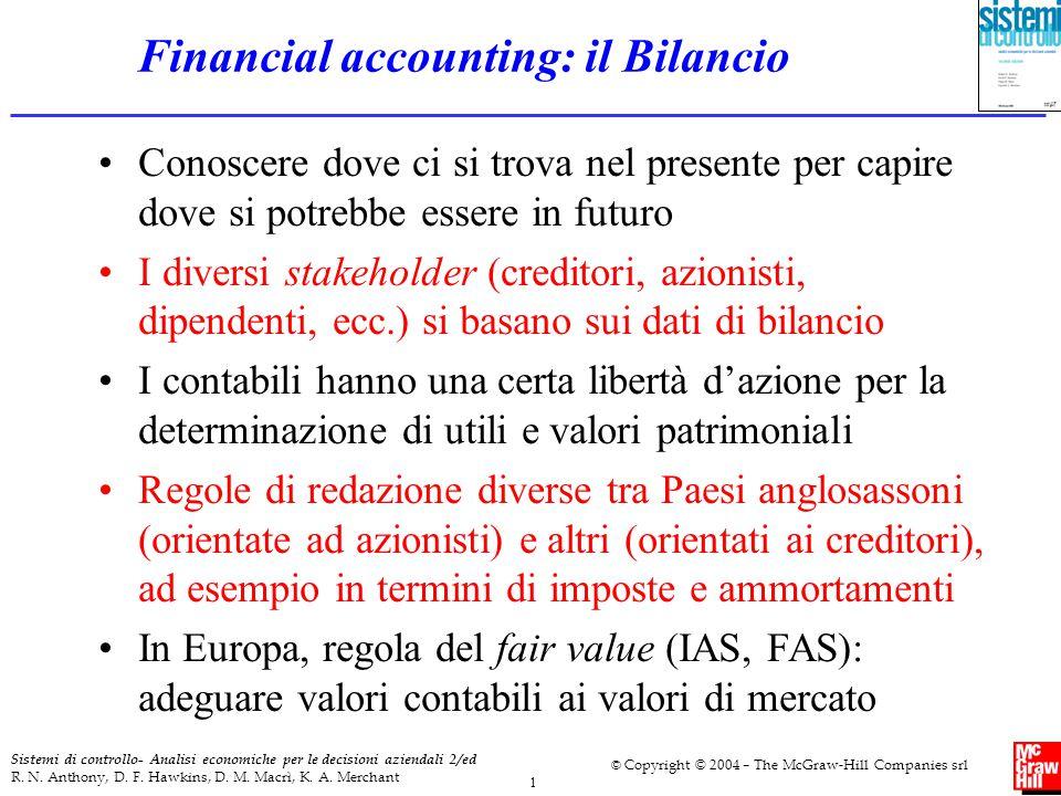 1 Sistemi di controllo- Analisi economiche per le decisioni aziendali 2/ed R. N. Anthony, D. F. Hawkins, D. M. Macrì, K. A. Merchant © Copyright © 200