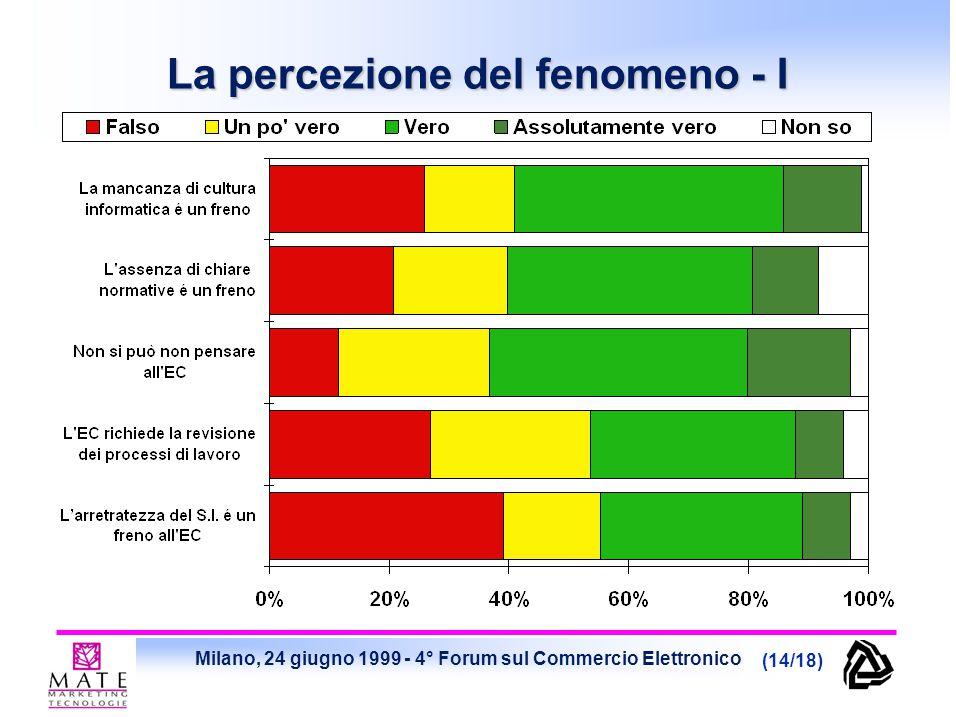 Milano, 24 giugno 1999 - 4° Forum sul Commercio Elettronico (14/18) La percezione del fenomeno - I