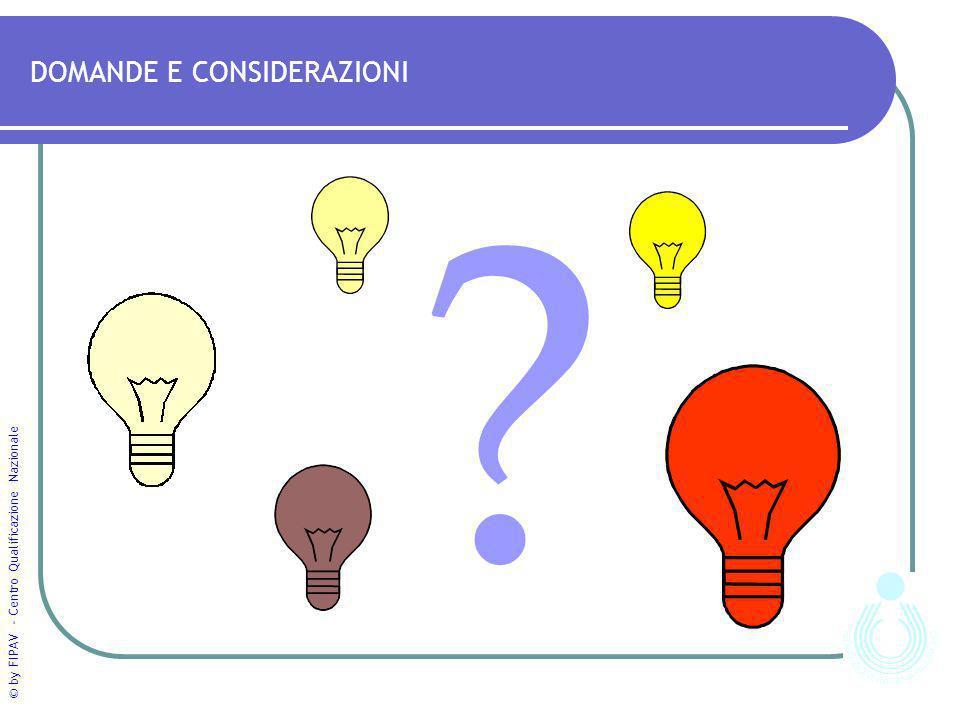 © by FIPAV - Centro Qualificazione Nazionale DOMANDE E CONSIDERAZIONI ?