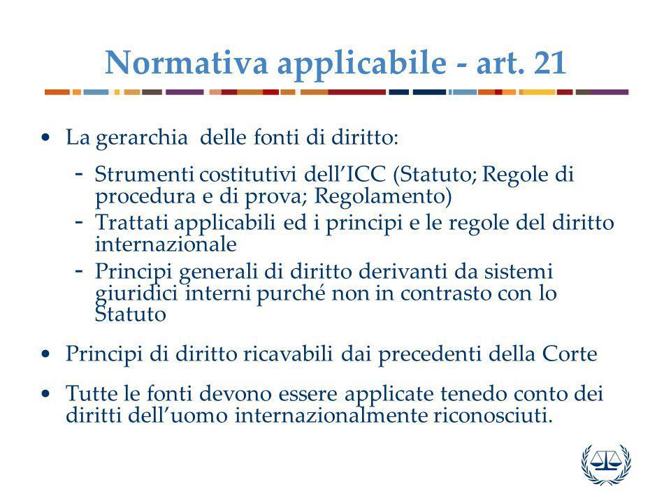 Normativa applicabile - art.