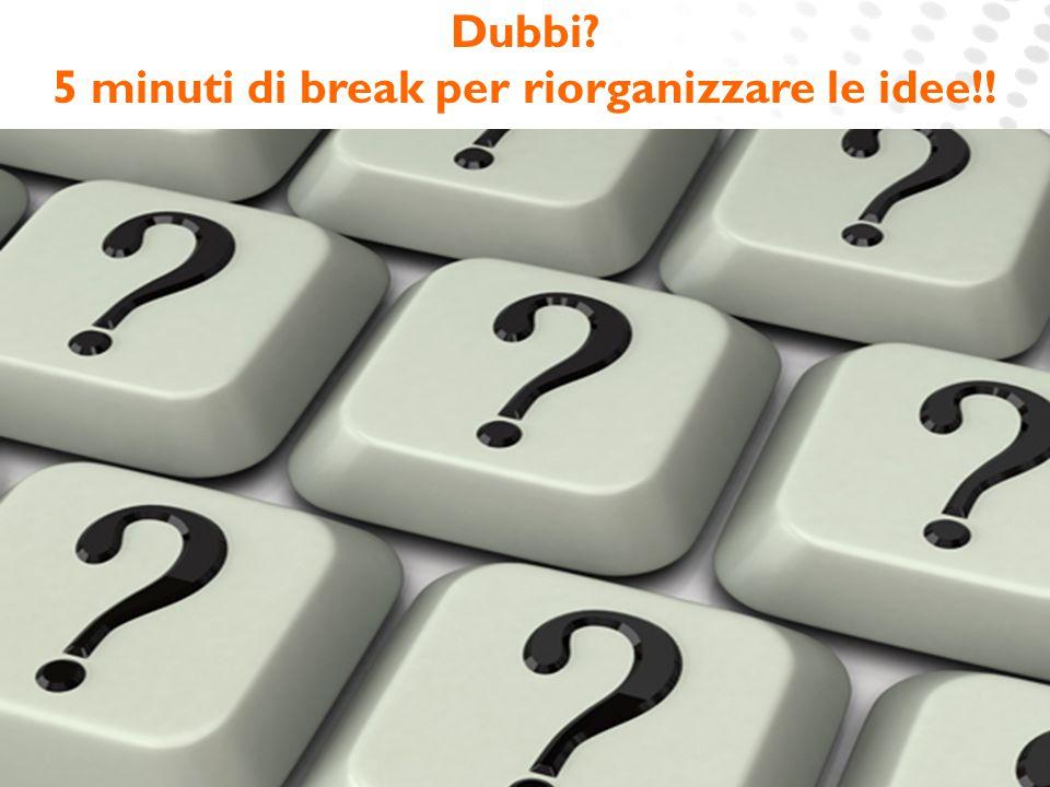www.cineca.it Dubbi? 5 minuti di break per riorganizzare le idee!!