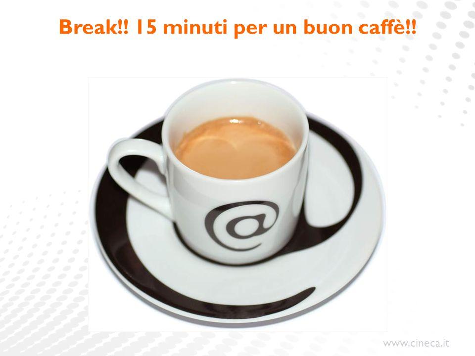 www.cineca.it Break!! 15 minuti per un buon caffè!!