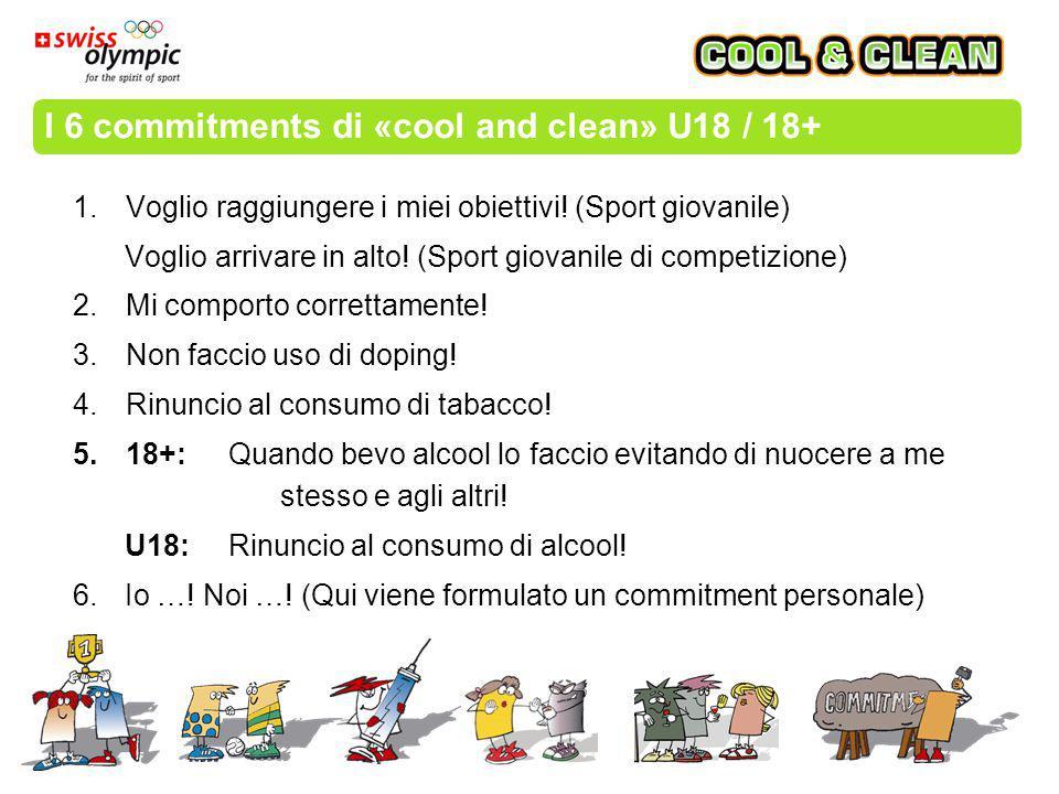 I 6 commitments di «cool and clean» U18 / 18+ 1.Voglio raggiungere i miei obiettivi.