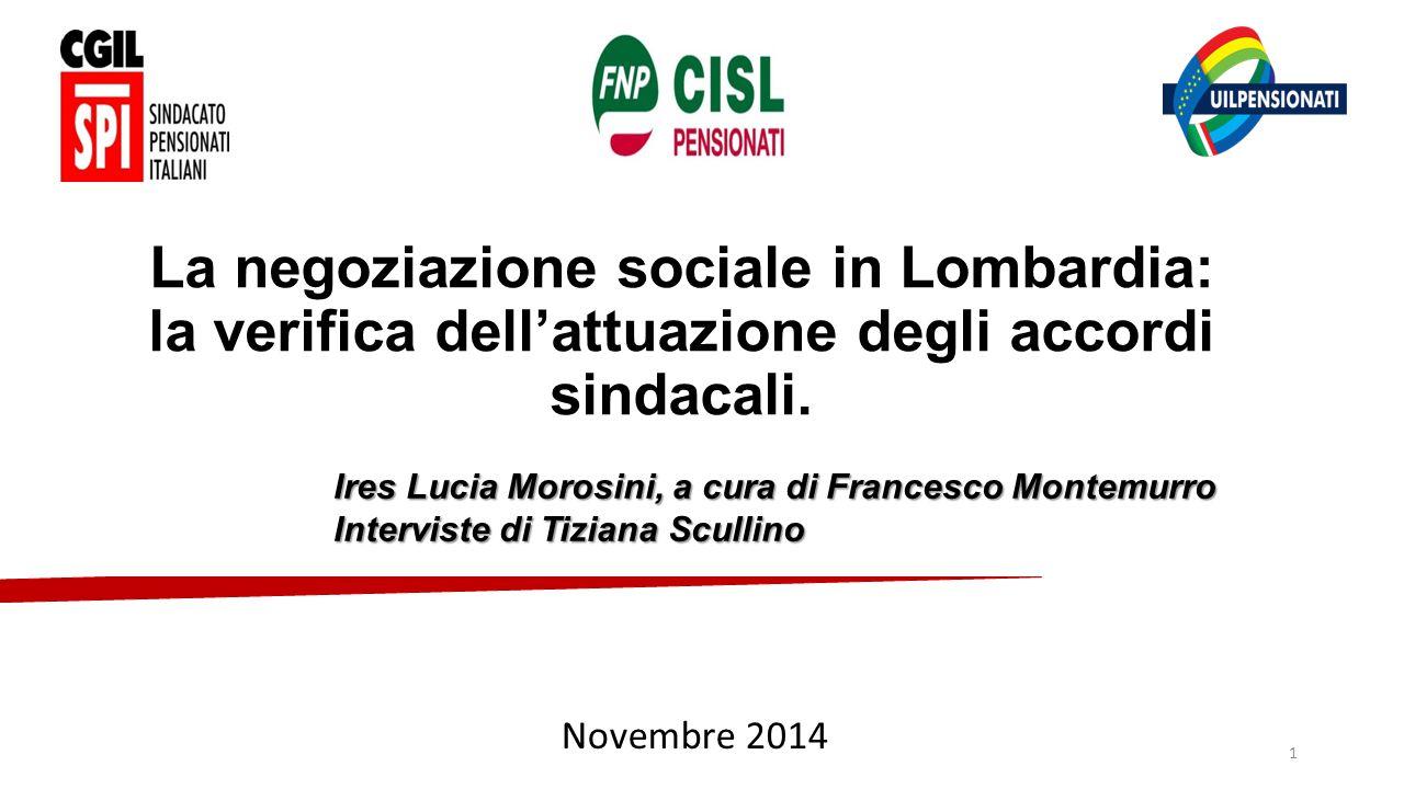 La negoziazione sociale in Lombardia: la verifica dell'attuazione degli accordi sindacali.