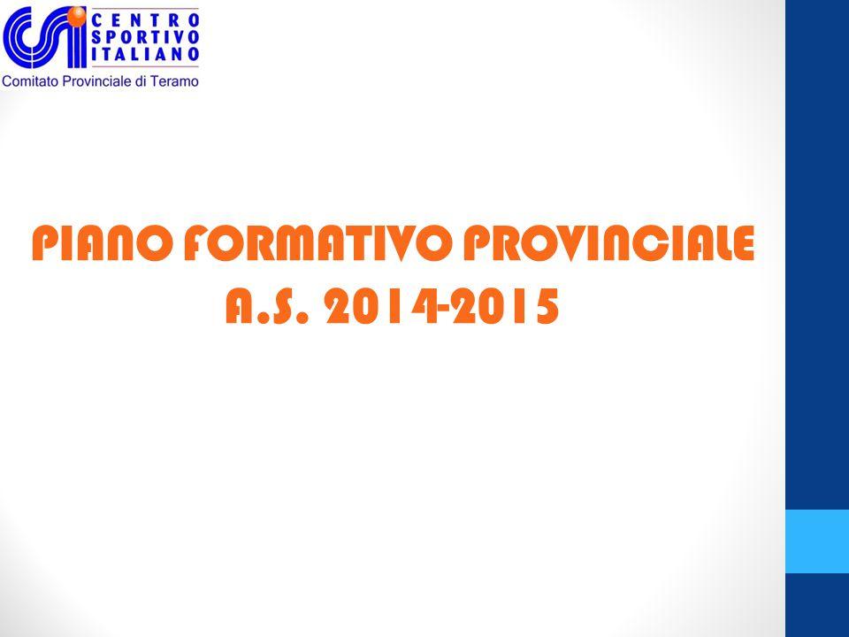 PIANO FORMATIVO PROVINCIALE A.S. 2014-2015