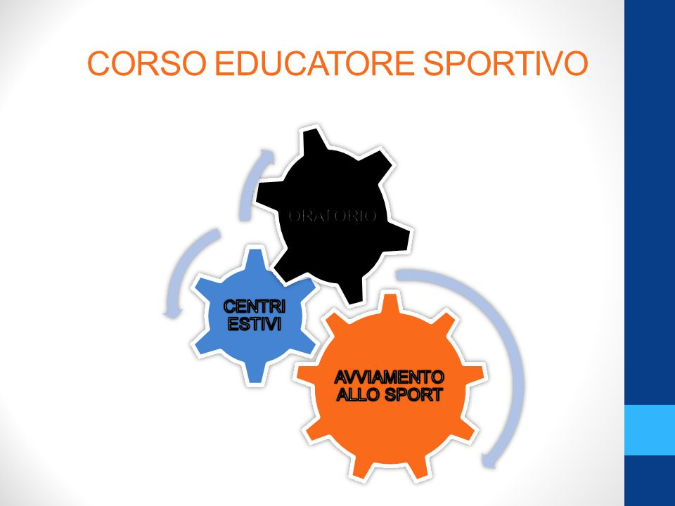 CORSO EDUCATORE SPORTIVO