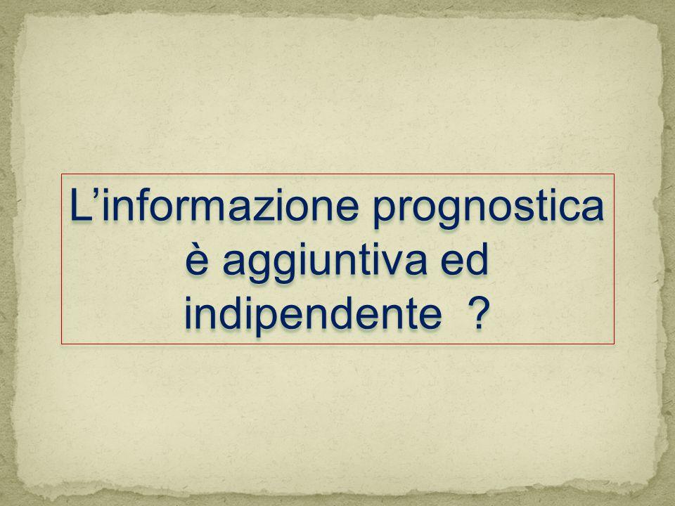 L'informazione prognostica è aggiuntiva ed indipendente ?
