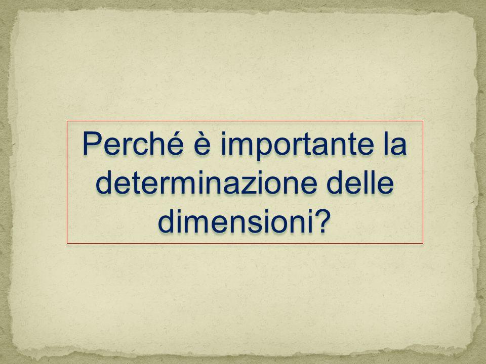 Perché è importante la determinazione delle dimensioni?