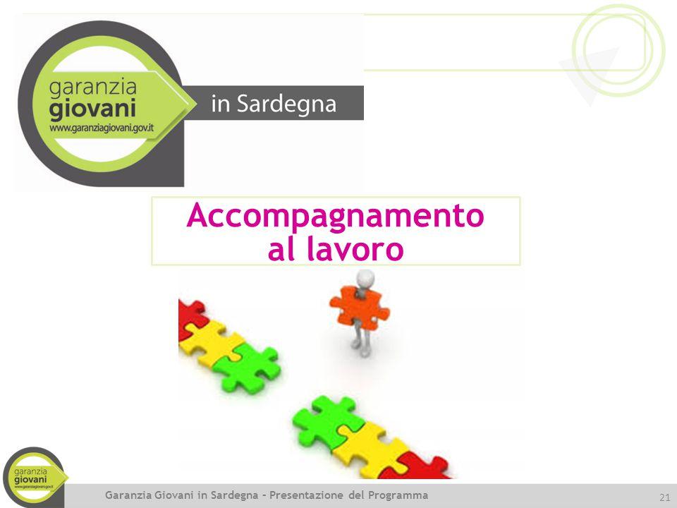 21 Accompagnamento al lavoro Garanzia Giovani in Sardegna – Presentazione del Programma