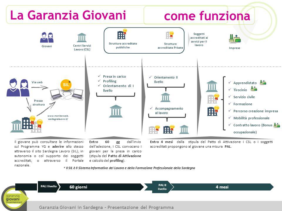 Il giovane può consultare le informazioni sul Programma YG e aderire allo stesso attraverso il sito Sardegna Lavoro (SIL), in autonomia o col supporto