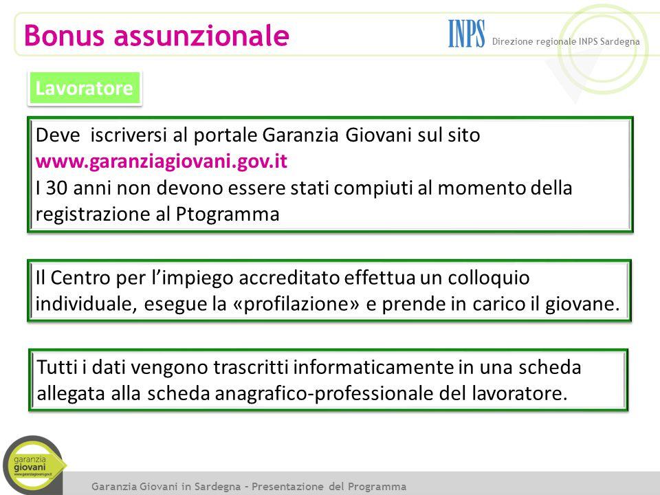 Bonus assunzionale Lavoratore Deve iscriversi al portale Garanzia Giovani sul sito www.garanziagiovani.gov.it I 30 anni non devono essere stati compiu