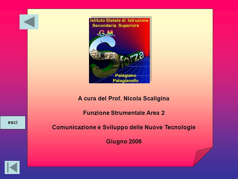 A cura del Prof. Nicola Scaligina Funzione Strumentale Area 2 Comunicazione e Sviluppo delle Nuove Tecnologie Giugno 2006 esci