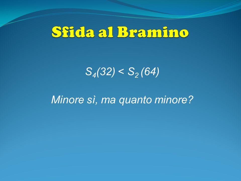 S 4 (32) < S 2 (64) Minore sì, ma quanto minore?