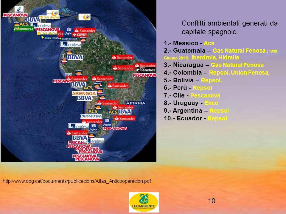10 Conflitti ambientali generati da capitale spagnolo.