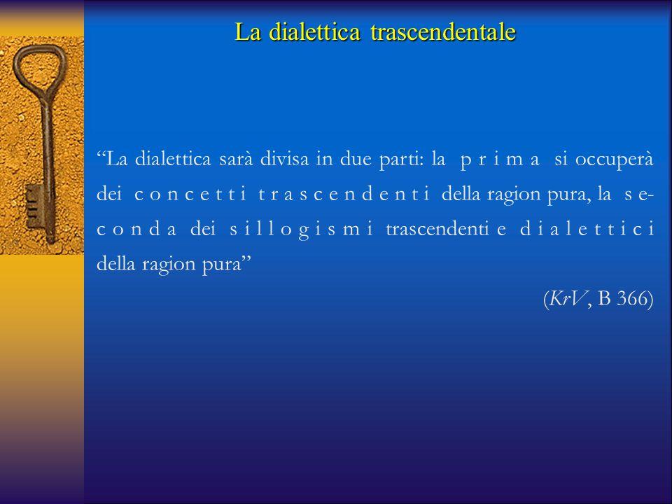 """""""La dialettica sarà divisa in due parti: la p r i m a si occuperà dei c o n c e t t i t r a s c e n d e n t i della ragion pura, la s e- c o n d a dei"""