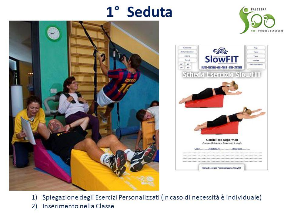 1° Seduta 1)Spiegazione degli Esercizi Personalizzati (In caso di necessità è individuale) 2)Inserimento nella Classe