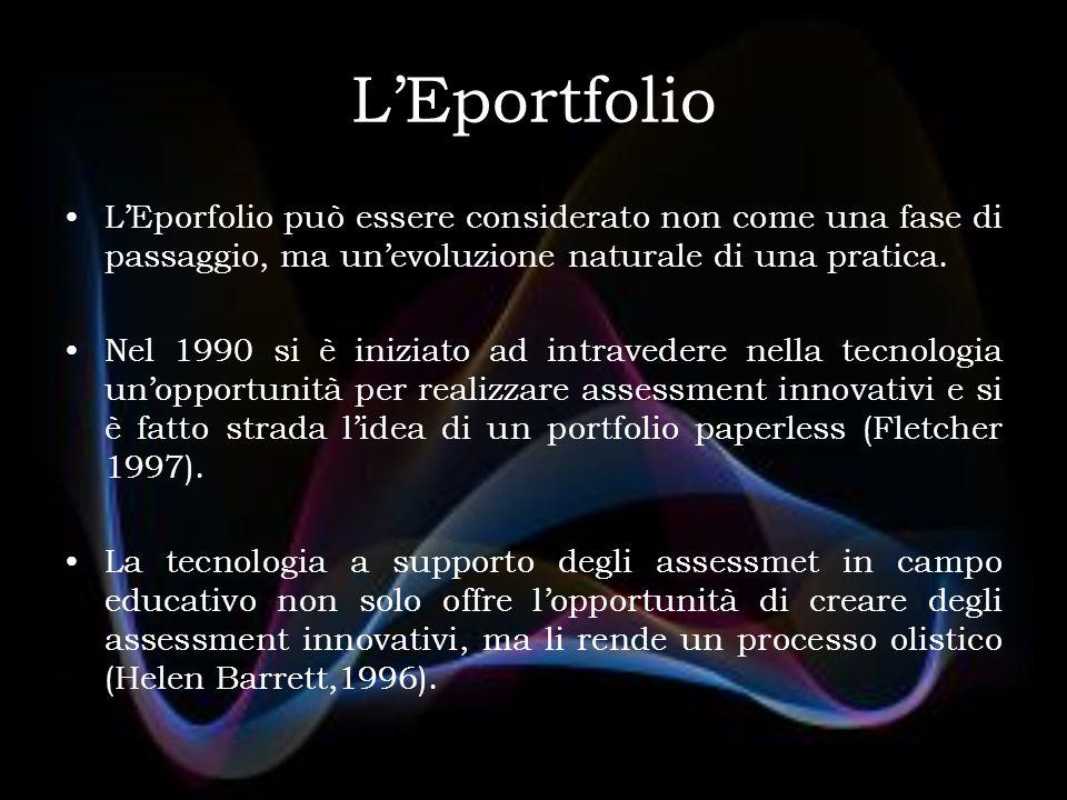 L'Eporfolio può essere considerato non come una fase di passaggio, ma un'evoluzione naturale di una pratica.
