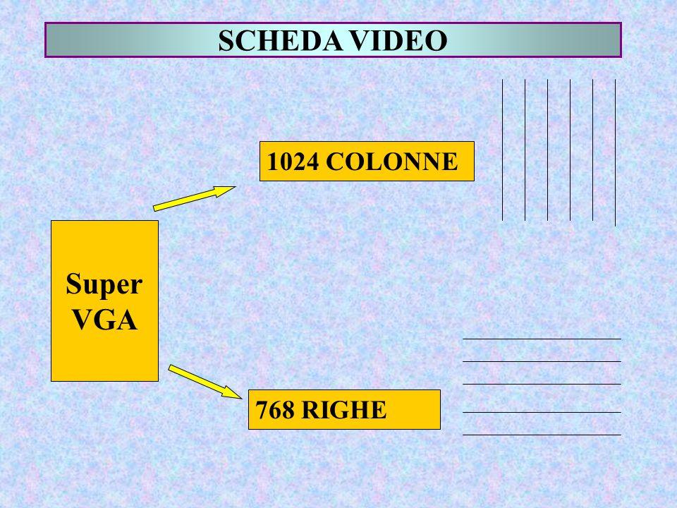 SCHEDA VIDEO Super VGA 1024 COLONNE 768 RIGHE