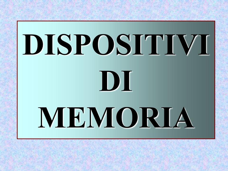 DISPOSITIVI DI MEMORIA