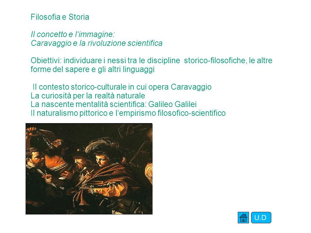 Storia dell'arte Caravaggio: la luce del vero Obiettivi:saper leggere l'opera pittorica attraverso gli elementi del linguaggio visivo; comprendere il valore espressivo della luce e dell'ombra; saper distinguere la luce reale da quella spirituale.