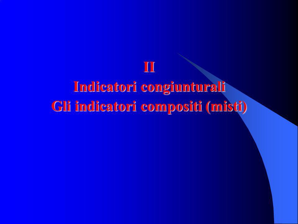 II Indicatori congiunturali Gli indicatori compositi (misti)