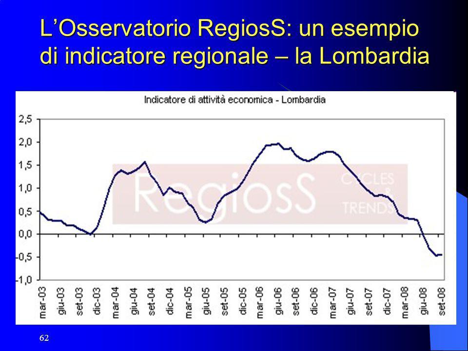 62 L'Osservatorio RegiosS: un esempio di indicatore regionale – la Lombardia