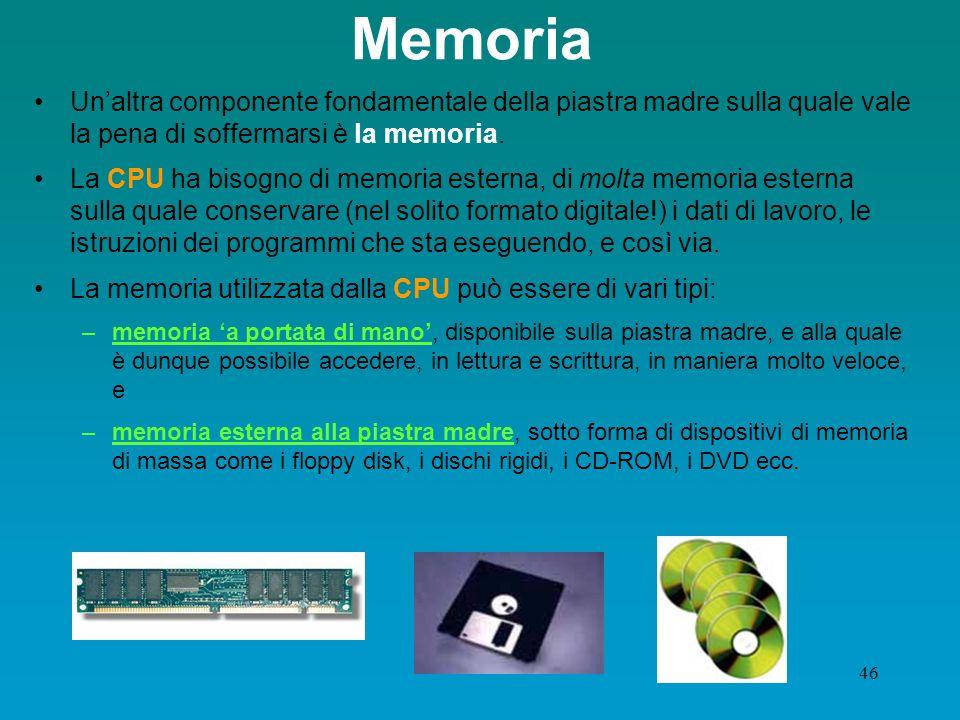 45 Dispositivi di memoria