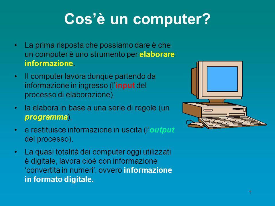 6 Information technology Tecnologia utilizzata per la realizzazione dei moderni sistemi di elaborazione Informatica/Computer Science Informazione automatica